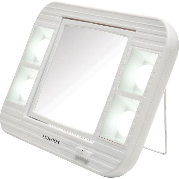Jerdon Lighted 5x/1x LED Home and Travel Vanity Mirror