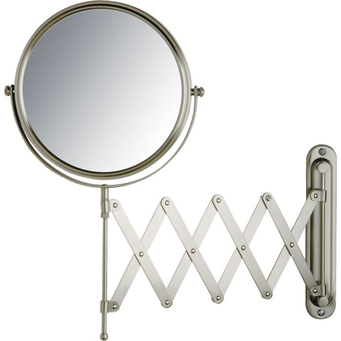 Jerdon Pantograph 7x/1x Wall-Mount Makeup Mirror - 2 Finishes
