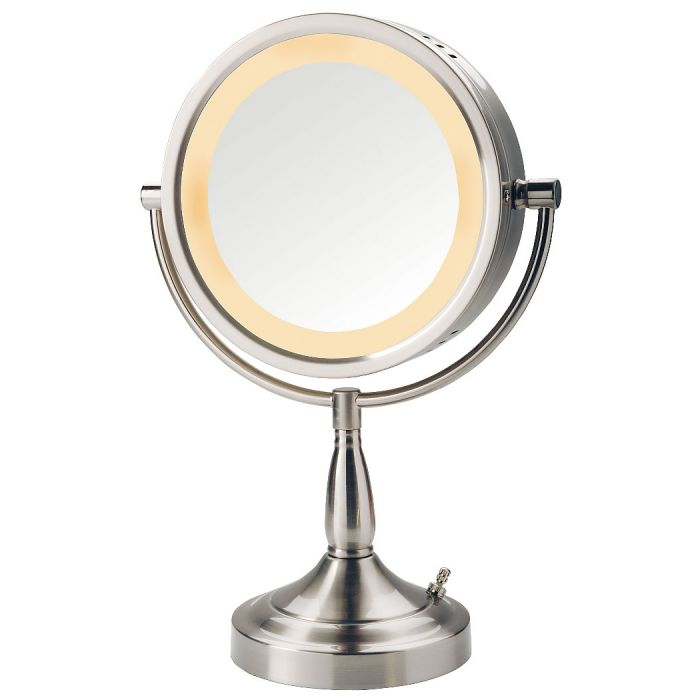 Jerdon 7x/1x Reversible Halo-Lighted Vanity Mirror