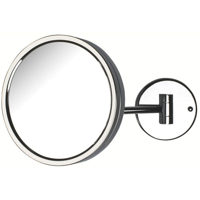 Jerdon Reverssible Single-Arm Makeup Mirror, 5x/1x, Chrome Finish