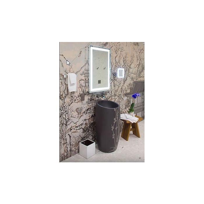 Sergena Neo-Classic Dual Backlit LED Hardwired Wall Mirror 35WBL