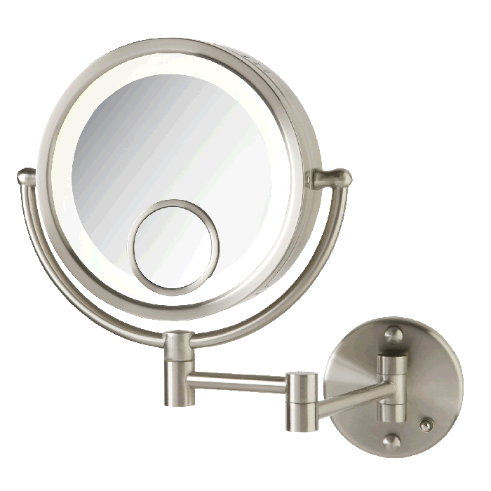 Jerdon 7x/1x Plug-In LED Makeup Mirror with 15x Spot Mirror