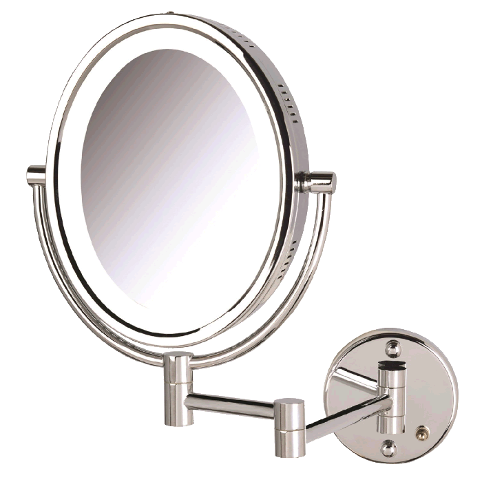 Oval 5x Plug-In Wall-Mounted Makeup Mirror
