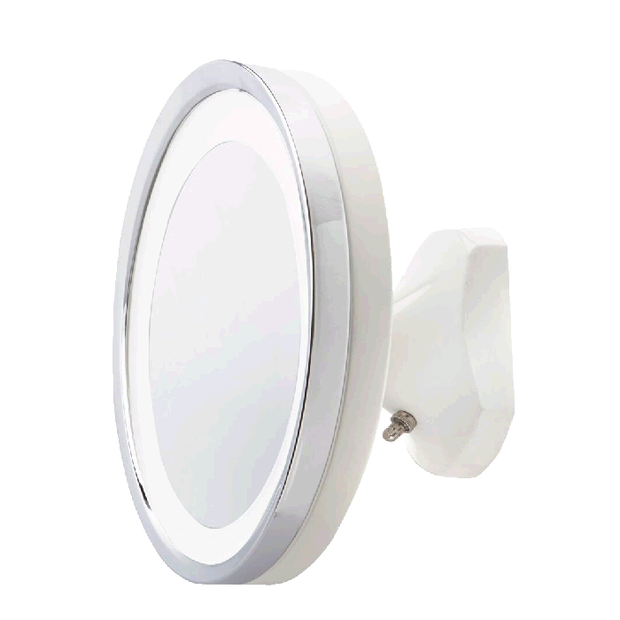 Jerdon Close-to-the-Wall Hardwired 5x LED Makeup Mirror in Polished Chrome