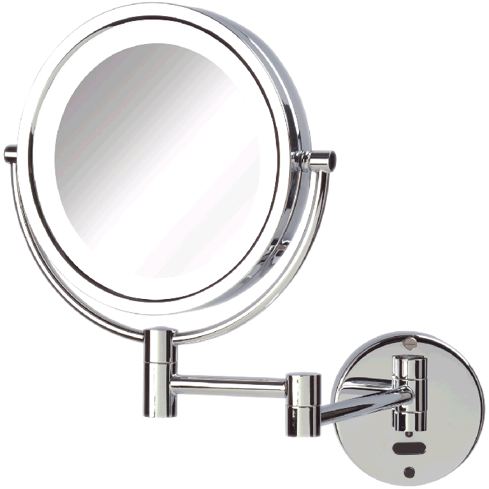 Sharper Image 8x/1x Battery and AC LED Makeup Mirror - Chrome or Nickel