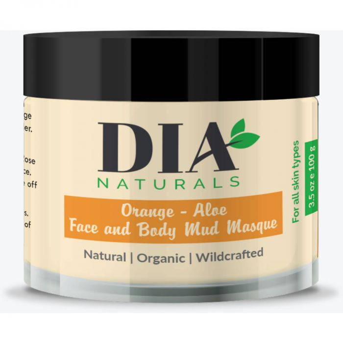 Organic Orange - Aloe Face and Body Mud Masque by Dia Naturals 3.5 oz.