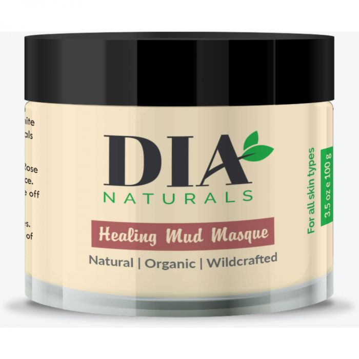 Organic Healing Face & Body Mud Masque Powder by Dia Naturals