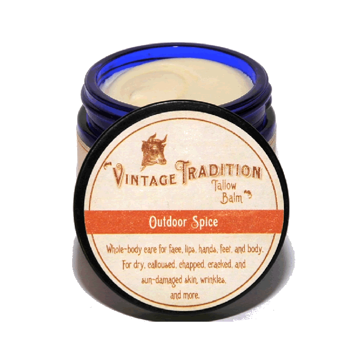 Outdoor Spice Tallow Balm by Vintage Tradition - 2 oz. or 9 oz.