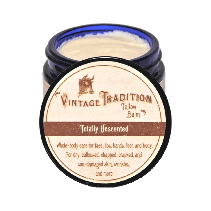 Unscented Tallow Balm by Vintage Tradition - 2 oz. or 9 oz.