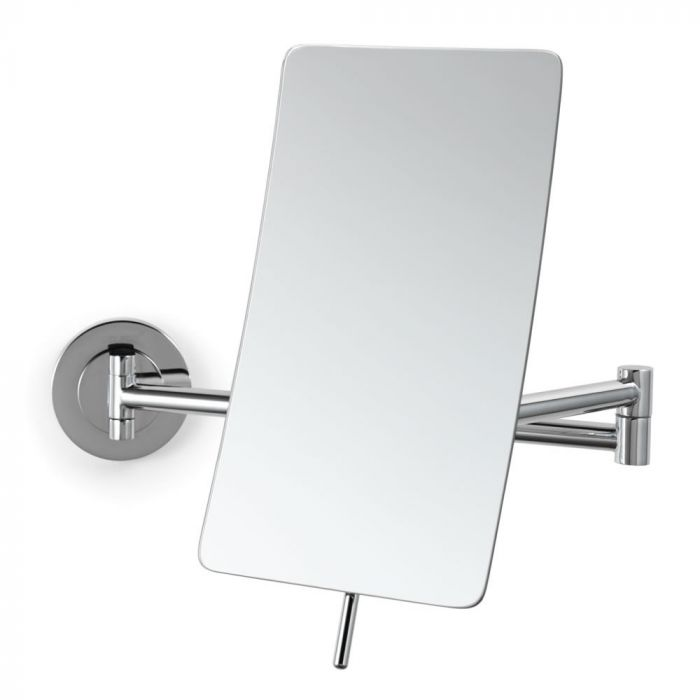Electric Mirror Compond Curve Wall-Mounted 5x Makeup Mirror with Adjustment Handle