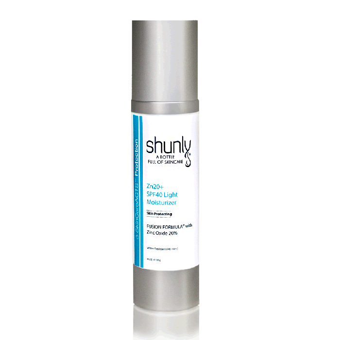 Zn20+ SPF40 Light Moisturizer with 20% Zinc Oxide Offers High Protection from Photo-Aging