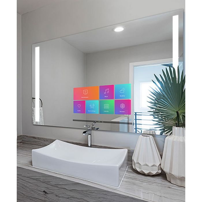 Electric Mirror Fusion Savvy Smart Mirror is LCD Bi-Laterally Backlighted - Control Your World!