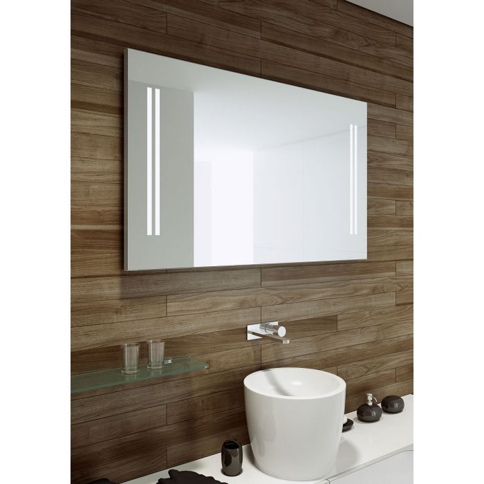 Aamsco UNICO 2 with Double Vertical Bands of LED Lighting at Each Side of the Mirror - 2 Sizes