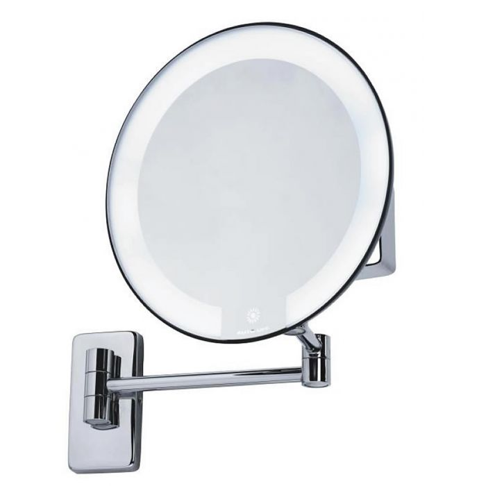 JVD Cosmos Tubular Arm 5x LED Cosmetic Mirror - Requires no Electrical Connection - Chrome or Black