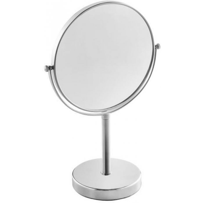 JVD Fiesta 3x/1x Reversible Free Standing Vanity Mirror -  Black or Chrome