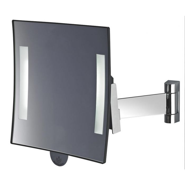 JVD Galaxy Flat Arm 3x LED Vanity Mirror Lighted at Both Edges - Lithium Ion Battery Powered