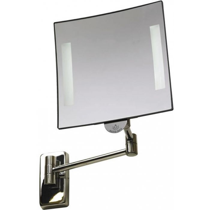 JVD Galaxy Tubular Arm 3x LED Vanity Mirror Lighted at Both Edges - Lithium Ion Battery Powered