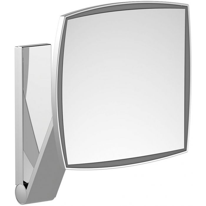 KEUCO 5x Hardwired Square 6,000k (Whie Daylight) LED Cosmetic Mirror - 4 Finishes